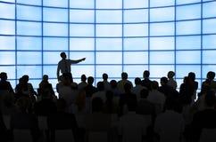 Gruppe von Personen in einer Sitzung Stockfoto