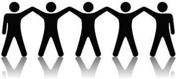 Gruppe von Personen feiern Teamwork Lizenzfreie Stockfotografie