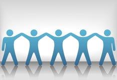 Gruppe von Personen feiern Teamwork auf Hintergrund stock abbildung