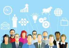 Gruppe von Personen mit Ideen Stockfotografie