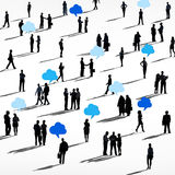 Gruppe von Personen mit Kommunikations-Konzepten lizenzfreie abbildung