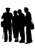 Gruppe von Personen vier Stockfotografie