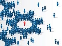 Gruppe von Personen wird durch einzigartiges angeordnet Stockfotos