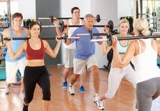 Gruppe von Personenen-anhebende Gewichte Stockbilder
