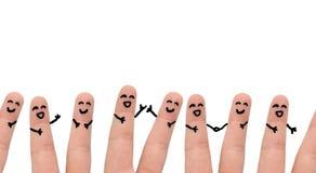 Gruppe von Personenen-Freunde Lizenzfreies Stockbild