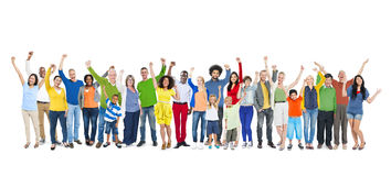 Gruppe von Personenen-Handanheben Lizenzfreie Stockbilder