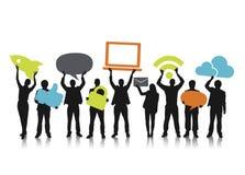 Gruppe von Personenen-und Social Media-Konzepte vektor abbildung