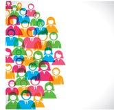 Gruppe von Personenenhintergrund Stockfoto