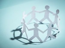 Gruppe von Personenenholdinghände Lizenzfreies Stockbild