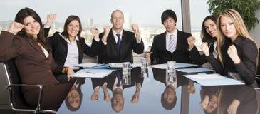 Gruppe von sechs Wirtschaftlern Lizenzfreies Stockbild
