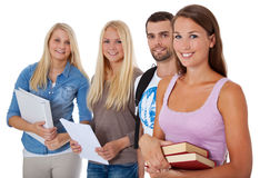 Gruppe von vier Studenten Lizenzfreie Stockbilder