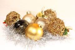 Gruppe Weihnachtsverzierungen Lizenzfreie Stockfotos