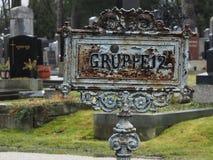 Gruppe 12, Wenen Cementery Royalty-vrije Stock Afbeeldingen