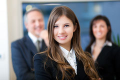 Gruppe Wirtschaftler im Büro lizenzfreie stockbilder