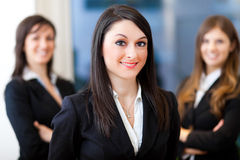 Gruppe Wirtschaftler im Büro lizenzfreies stockfoto