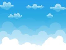Gruppe Wolken auf Vektor des blauen Himmels Lizenzfreie Stockbilder