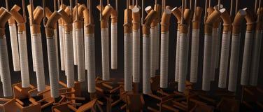 Gruppe Zigaretten, die absolut hängen Stockbild