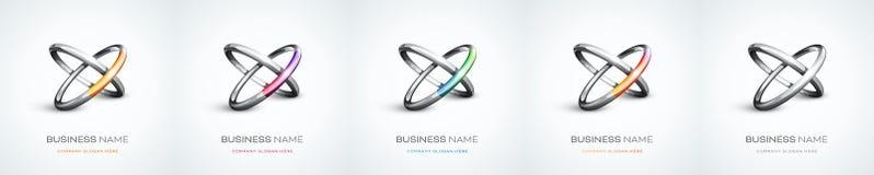 Gruppe Zusammenfassungsring-Logodesign Stockfotos