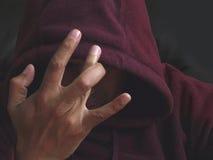 Gruppebauteil mit einem Handzeichen Stockfoto