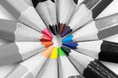 Gruppen av blyertspennafärg Royaltyfria Bilder