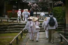 Gruppen av japan vallfärdar Arkivfoto