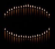 Avsmalna stearinljus gör för att cirkla Royaltyfri Fotografi