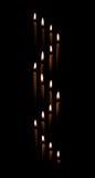 Avsmalna stearinljus gör för att vinka Arkivbilder