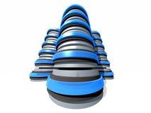 Gruppen av serveren 3D står hög Arkivfoton