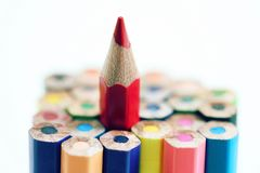 Gruppen-Bleistift-Farbe Lizenzfreie Stockfotografie