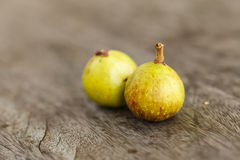 Gruppen-Feige auf Holz (Ficus racemosa Linn etwas körniges) Lizenzfreies Stockbild