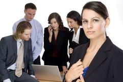 Gruppen-führender Vertreter der Wirtschaft Stockfotos