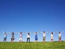 gruppen hands holdingen Royaltyfri Fotografi