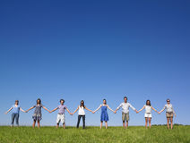 Gruppen-Holdinghände Lizenzfreie Stockfotografie
