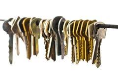 gruppen keys white Royaltyfria Foton