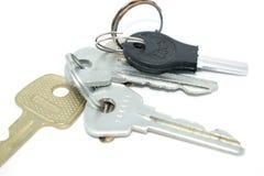 gruppen keys white Foto av olika tangenter från dörren Royaltyfria Bilder