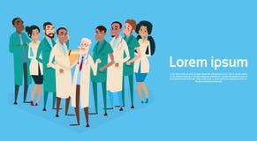 Gruppen-Mitteldoktoren Team Clinic Banner Lizenzfreie Stockbilder