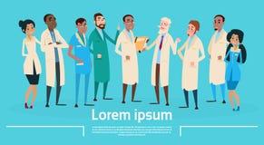 Gruppen-Mitteldoktoren Team Clinic Banner Stockfotos