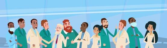 Gruppen-Mitteldoktoren Team Clinic Banner Stockfoto