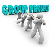 Gruppen-Projekt-Leute-Studenten-Arbeitskraft-Zusammenarbeits-Zusammenarbeit vektor abbildung