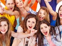 Gruppen-Sportfreundbeifall für. Lizenzfreies Stockbild