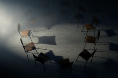 Gruppen-Therapie-Stühle Lizenzfreie Stockfotos