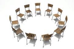 Gruppen-Therapie-Stühle stockbilder