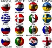 Gruppen und die Zustandmarkierungsfahne Stockbild