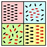 Gruppen-Verhalten und Dynamik Stockfotos