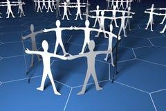 Gruppen von peple Konzept Lizenzfreies Stockfoto