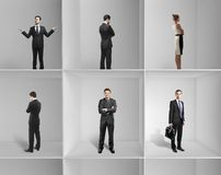 Gruppen-Wirtschaftler lizenzfreie stockbilder