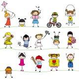 Gruppenkinder Stockfotografie