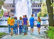 Gruppenleute im Sommer im Freien Stockbilder