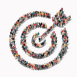 Gruppenleuteform-Zielziel lizenzfreie abbildung