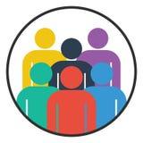 Gruppenleuteikonenteamwork-Vektorillustration Lizenzfreies Stockfoto